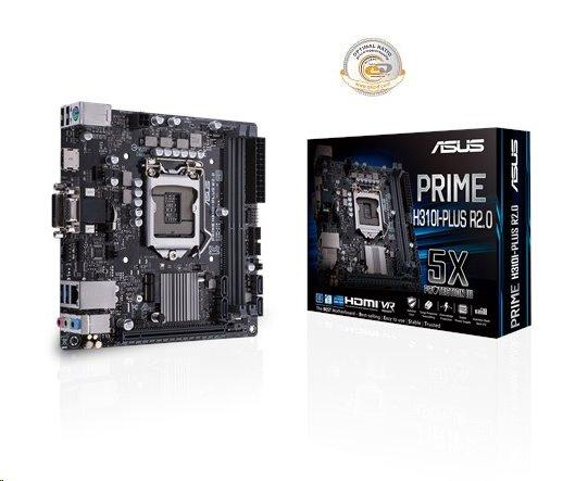 ASUS PRIME H310I-PLUS R2.0 soc.1151 H110 DDR4 mITX M.2 USB3 D-Sub DVI HDMI