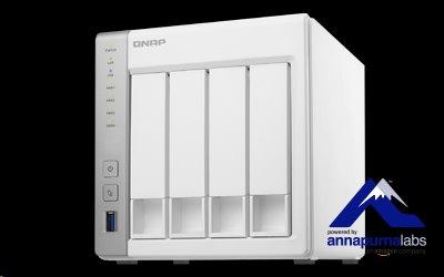 QNAP™ TS-431P2-1G 4 Bay NAS, 3.5, Alpine AL-314, 4-core,1.7GHz 1GB DDR3 RAM, EU Edition