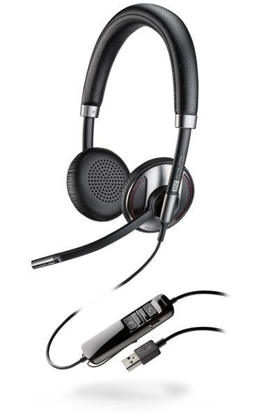 Plantronics BLACKWIRE C725-M Microsoft, náhlavná súprava na obe uši, STEREO