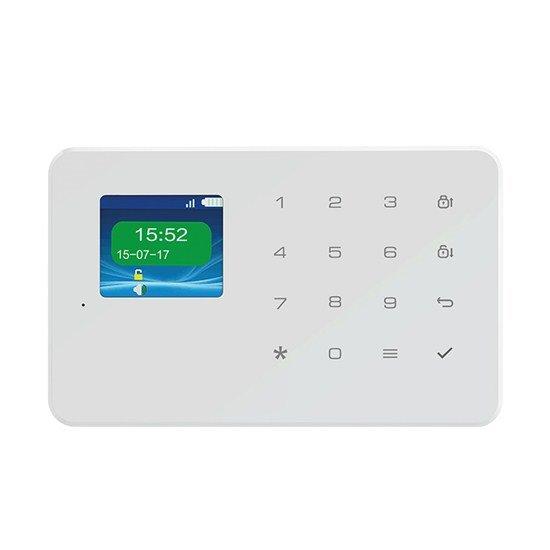Solight GSM alarm set, ovládácí panel, 2x dálkové ovládání, PIR čidlo, okenní/dveřní senzor