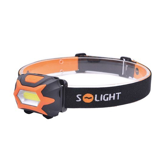 Solight čelová LED svietidlo, 3W COB, 3x AAA