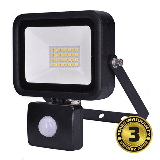 Solight LED reflektor PRO so senzorom, 30W, 2550lm, 5000K, IP44