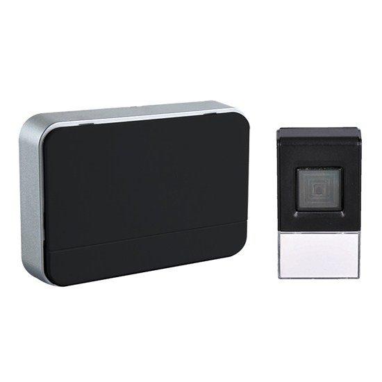 Solight Bezdrôtový zvonček, batériový, 120m, čierny, learning code