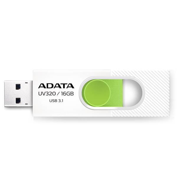 16 GB . USB kľúč . ADATA DashDrive™ Value UV320 USB 3.1, White/Green