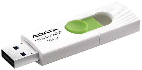 32 GB . USB kľúč . ADATA DashDrive™ Value UV320 USB 3.1, White/Green