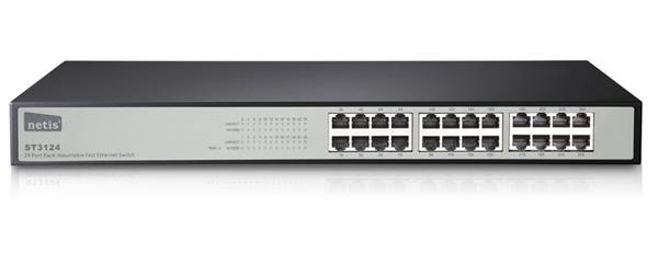 Netis ST-3124 24 Port Fast Ethernet Switch, unmanaged