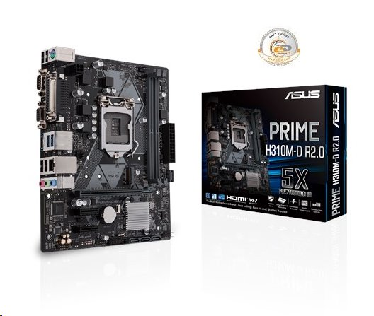 ASUS PRIME H310M-D R2.0 soc.1151 H310 DDR4 mATX USB3 M.2 VGA HDMI COM LPT