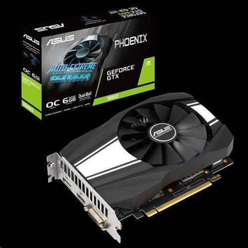 ASUS PH-GTX1660-O6G 6GB/192-bit, GDDR5, DVI, HDMI, DP