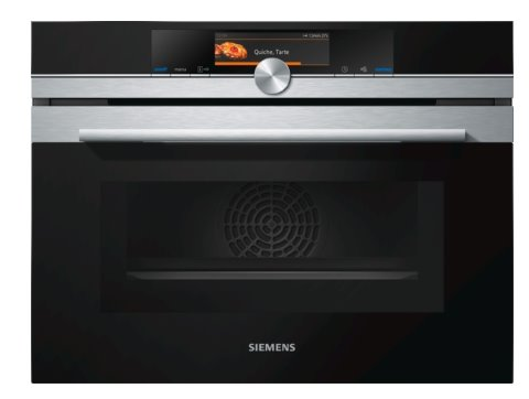 SIEMENS_kompakt.rúra na pečenie 45cm s mikrovlnami, antikoro,15 dr ohrevu,4D horúci vzduch,45 l,activeClean,5,7´´TFT dis