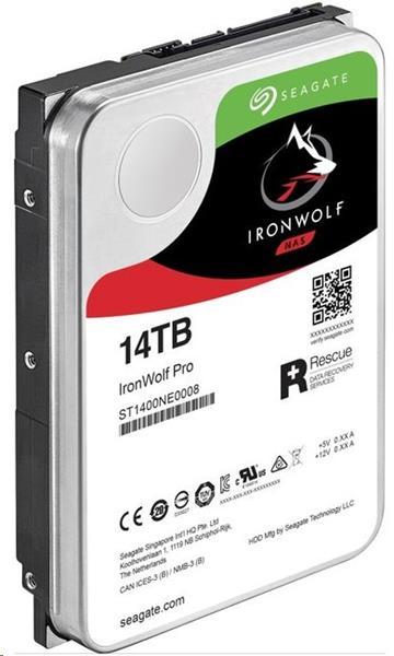 Seagate IronWolf Pro NAS HDD 14TB 7200RPM 256MB SATA 6Gbit/s