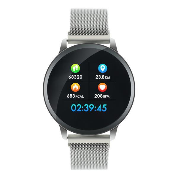 Canyon CNS-SW71SS smart hodinky, Bluetooth, farebný LCD displej 1.22´´, vodotesné IP 68, multišport režim, 2 náramky, st