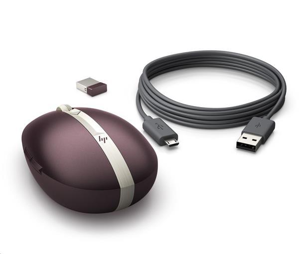 Bezdrôtová nabíjatelná myš HP Spectre 700 - bordeaux burgundy