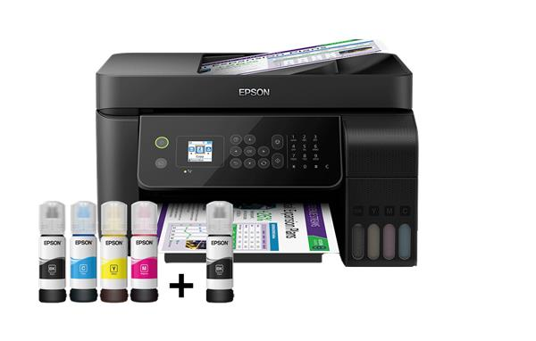 Epson L5190, A4, color-tank MFP, Fax, ADF, USB, LAN, WiFi, iPrint