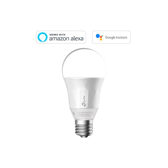 TP-LINK LB100 Smart Wi-Fi E27 LED Bulb, 220-240V/50Hz,No Hub Required, 50W Equivalent, 2.4GHz, 802.11b/g/n