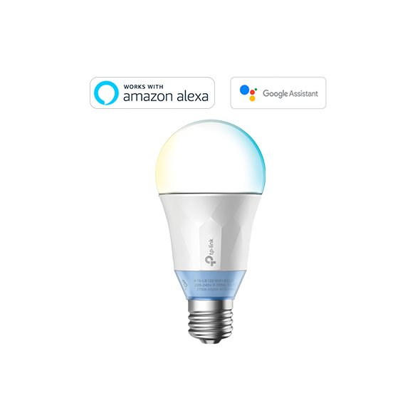 TP-LINK LB120 Smart Wi-Fi E27 LED Bulb, 220-240V/50Hz, Dimmable,No Hub Required, 60W Equivalent, 2.4GHz, 802.11b/g/n