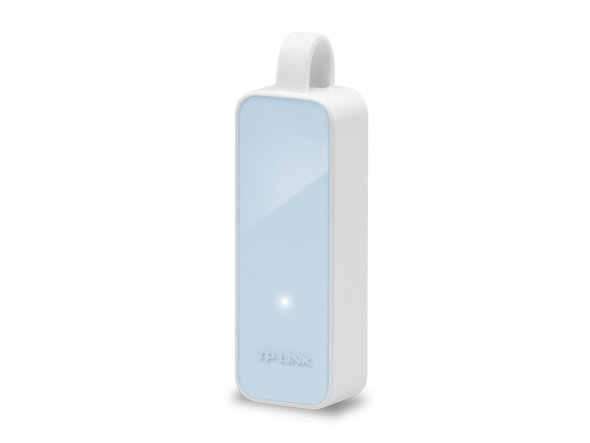 TP-LINK UE200 USB 2.0 to 100Mbps Eth Netw. Adapter, 1 USB 2.0 connector, 1 10/100Mbps Ethernet port