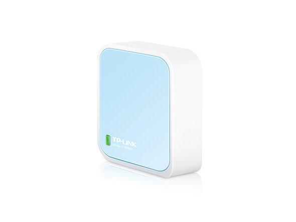 TP-LINK TL-WR802N N300 Nano Pocket Wi-Fi Router, 300Mbps at 2.4GHz, 2 internal antennas, 1 Ethernet Port