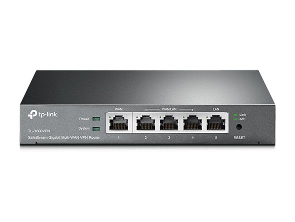 TP-LINK TL-R600VPN SafeStream™ Multi-WAN VPN Router, 1 Fixed Gigabit WAN Port + 3 Configurable Gigabit WAN/LAN Ports