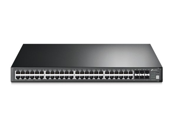 TP-LINK T3700G-52TQ JetStream™ 52-Port Gigabit L3 Managed Switch, 48 Gigabit RJ45 Ports, 4 Combo Gigabit SFP Slots