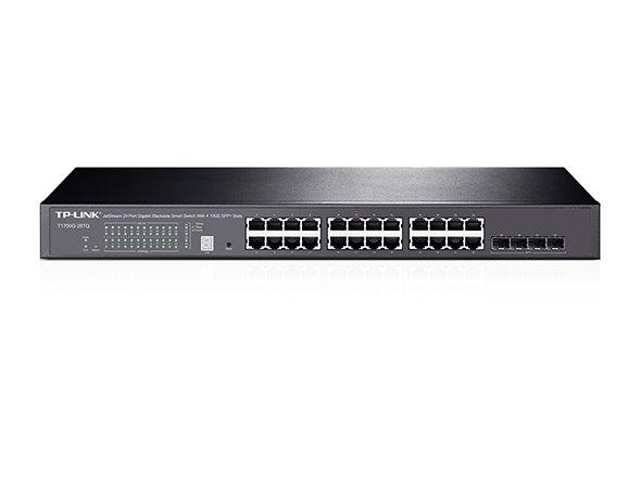 TP-LINK T1700G-28TQ JetStream™ 24-Port Gigabit Smart Switch with 4 10G SFP+ Slots, 24 Gigabit RJ45 Ports