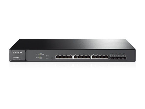 TP-LINK T1700X-16TS JetStream™ 16-Port 10G Smart Switch, 12 10GBase-T Ports, 4 10G SFP+ Slots