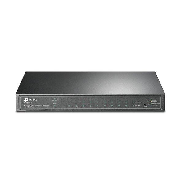 TP-LINK T1500G-10PS(TL-SG2210P) JetStream™ 8-Port Gigabit PoE Smart Switch, 8 Gigabit RJ45 Ports, 2 SFP Slots
