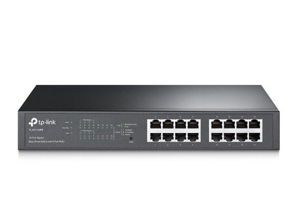 TP-LINK TL-SG1016PE 16-Port Gigabit PoE+ Easy Smart Switch, 16 Gigabit RJ45 Ports including 8 PoE+ Ports