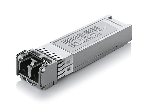 TP-LINK TXM431-SR 10Gbase-SR SFP+ LC Transceiver, 850nm Multi-mode, LC Duplex Connector, Up to 300m Distance