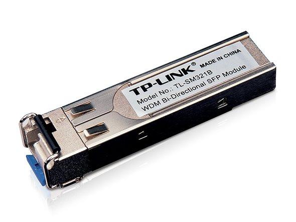 TP-LINK TL-SM321B 1000Base-BX WDM Bi-Directional SFP Module, LC Connector, TX:1310nm/RX:1550nm, Single-mode, 10km