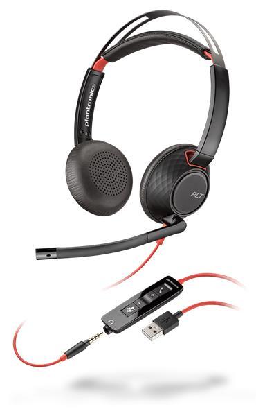 Plantronics BLACKWIRE C5220 USB-C, WW náhlavná súprava na obe uši, Stereo