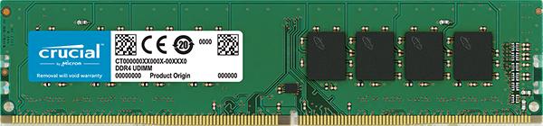 4GB DDR4 2400 MT/s (PC4-19200) CL17 SR x8 Crucial UDIMM 288pin