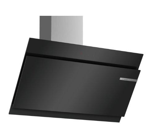 BOSCH_A +, komínový odsávač pár, 90 cm, naklonený, čierny, sklenená doska