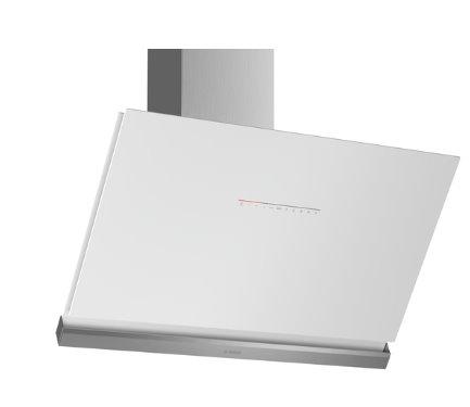 BOSCH_A +, komínový odsávač pár, 90 cm, naklonený, biely, Home Connect, PerfectAir senzor, DirectSelect control,