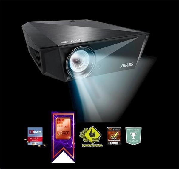 ASUS F1 mobilný LED projektor, FHD 1920x1080, 1200lm, 3500:1, 30000hod., wireless, autofocus, 2.1 repro