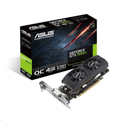 ASUS GTX1050TI-O4G-LP-BRK 4GB/128-bit GDDR5, DVI, HDMI, DP