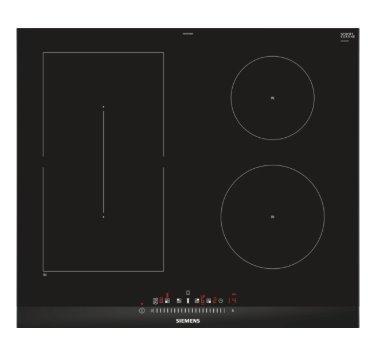 SIEMENS_80cm, U-fazeta, touchSlider, 4 indukčné varné zóny (z toho 1x combiZone s powerMove); funkcia reStart