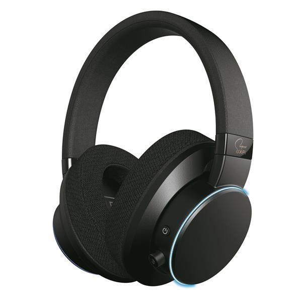 Creative SXFI AIR, audiofilské Bluetooth / USB slúchadlá na uši, technológia holografického zvuku, čierne