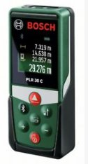 Bosch PLR30C Laserový dialkomer, Merací rozsah 0,05 – 30 mm color display