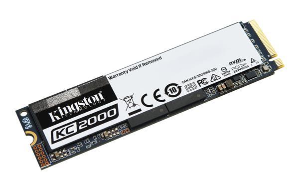 Kingston 500GB KC2000 SSD PCIe Gen3 x4 NVMe M.2 2280 ( r3000MB/s, w2000MB/s )