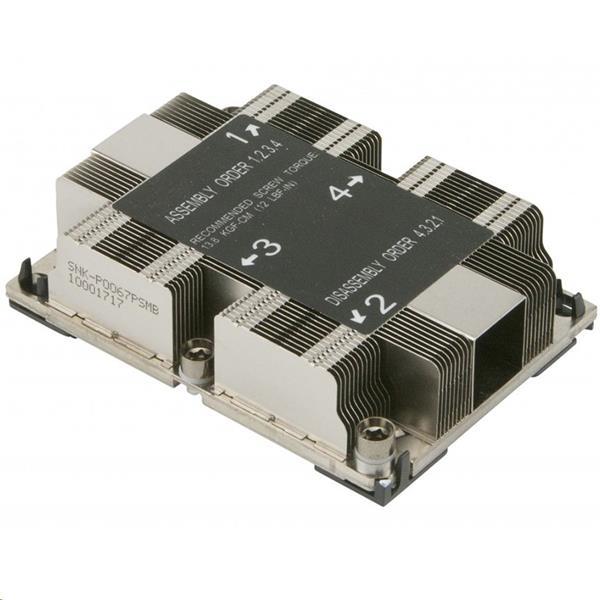 Supermicro1U Passive CPU Heat Sink Socket LGA3647-0 (SNK-P0067PSM)