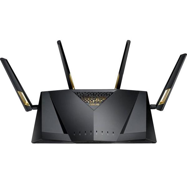 ASUS RT-AX88U Wireless-AX6000 Dual Band Gigabit RouterOFDMA + MU-MIMO tech, 1024 QAM, RangeBoost, Trend Micro AiProtec