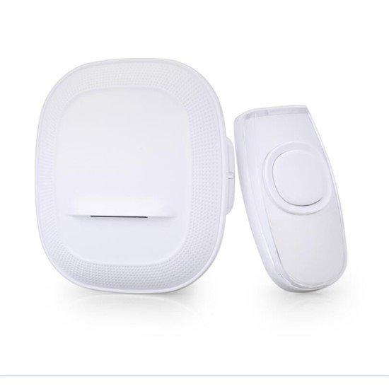 Solight bezdrôtový zvonček, do zásuvky, 200m, biely, learning code