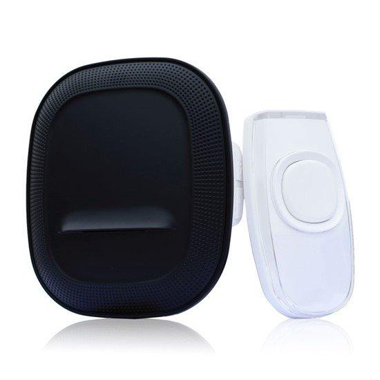 Solight bezdrôtový zvonček, do zásuvky, 200m, čierny, learning code