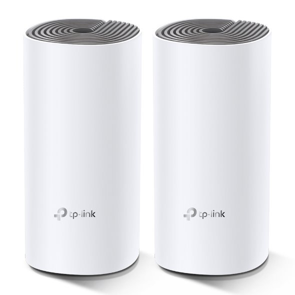 TP-LINK Deco E4(2-Pack) AC1200 Whole-Home Mesh Wi-Fi System, Qualcomm CPU, 867Mbps at 5GHz+300Mbps at 2.4GHz, 2 10/100Mb