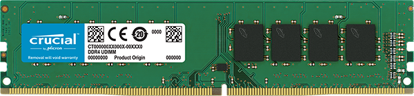 4GB DDR4 2666 MT/s (PC4-21300) CL19 SR x8 Crucial UDIMM 288pin