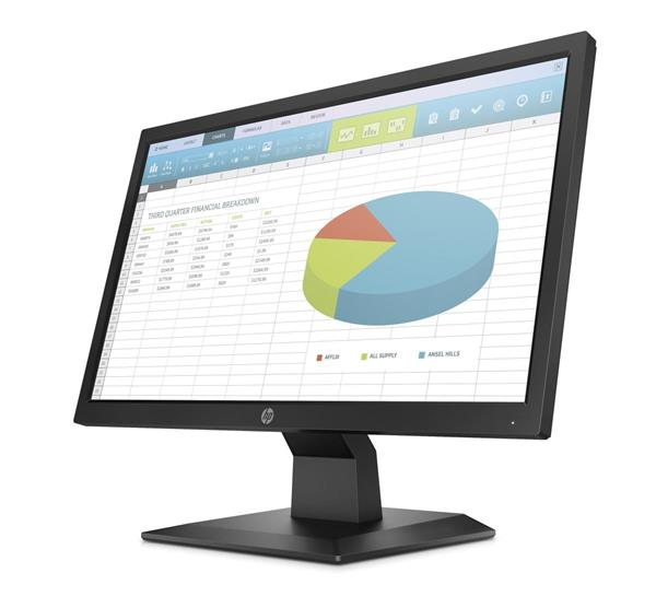 HP ProDisplay P204, 19.5 TN, 1600x900, 1000:1, 5ms, 250cd, VGA/DP/HDMI, 3y