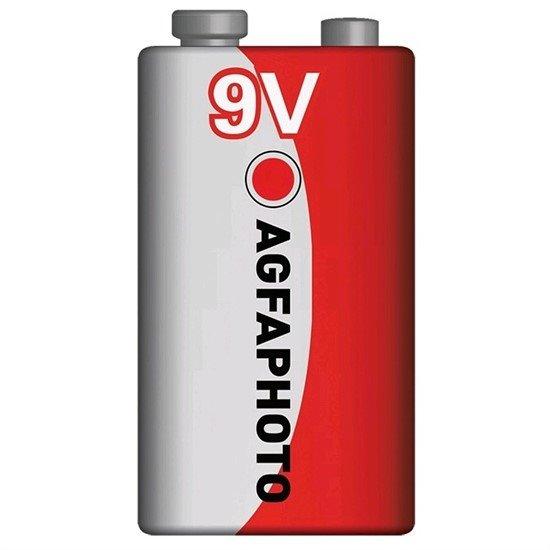AgfaPhoto zinková batéria 9V, shrink 1ks