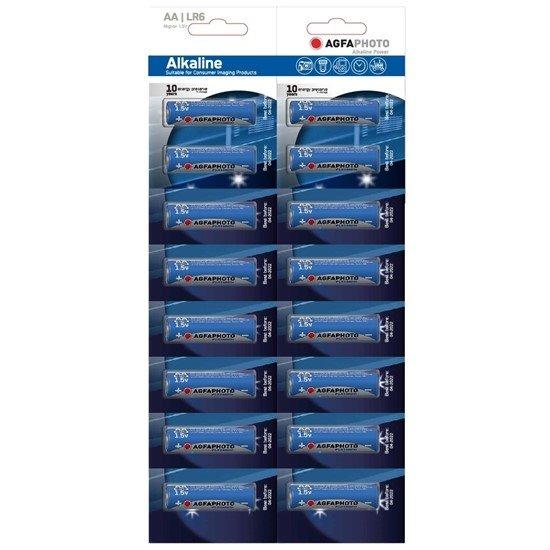 AgfaPhoto Power alkalická batéria 1.5V, LR06/AA, blister 16ks