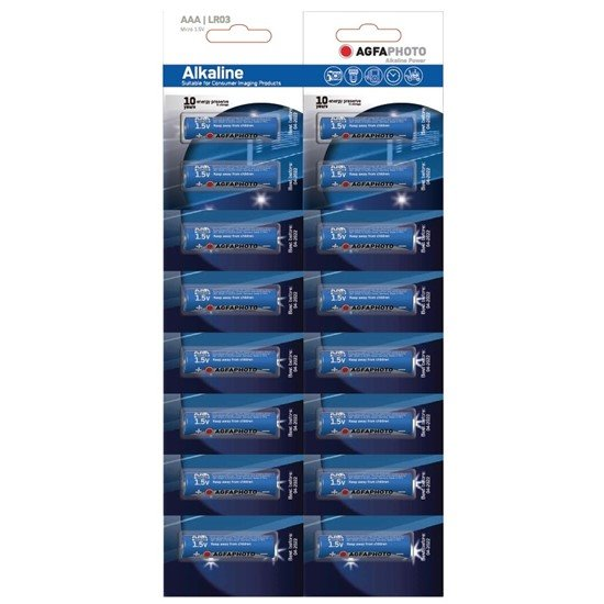 AgfaPhoto Power alkalická batéria 1.5V, LR03/AAA, blister 16ks