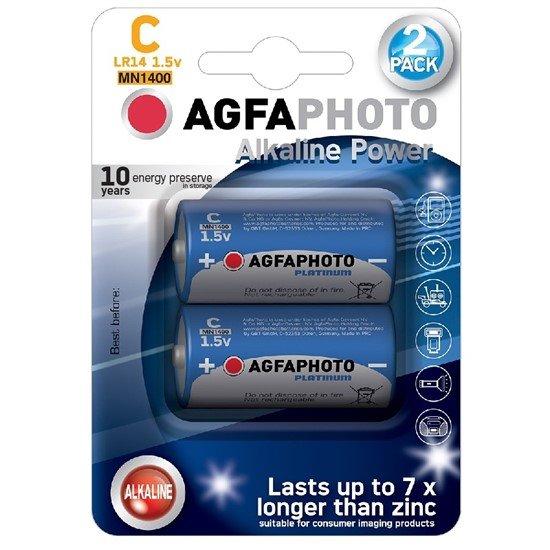 AgfaPhoto Power alkalická batéria LR14/C, blister 2ks